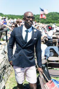 Summer Men's Wear Navy Blazer Pink Short