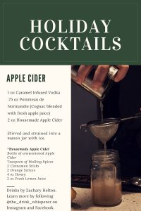 Holiday Cocktail Apple Cider